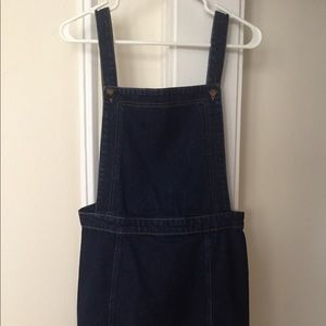 Top shop mini dress overalls